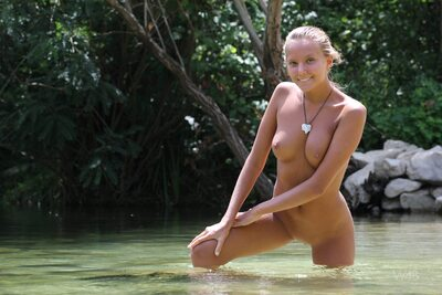 Picture tagged with: Skinny, Blonde, By the Water, Katya Clover - Mango A, Watch4Beauty