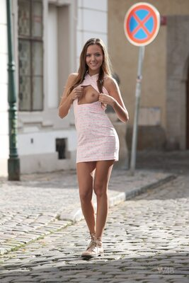 Picture tagged with: Skinny, Blonde, Happy in the City, Katya Clover - Mango A, Watch4Beauty
