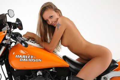 Picture tagged with: Skinny, Blonde, Harley, Katya Clover - Mango A, Watch4Beauty