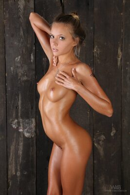 Picture tagged with: Watch4Beauty, Skinny, Blonde, Katya Clover - Mango A, Wooden