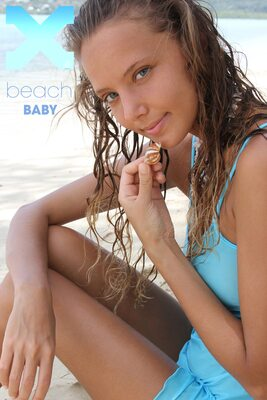 Picture tagged with: Skinny, Beach Baby, Blonde, Katya Clover - Mango A, X-Art, Beach, Nature