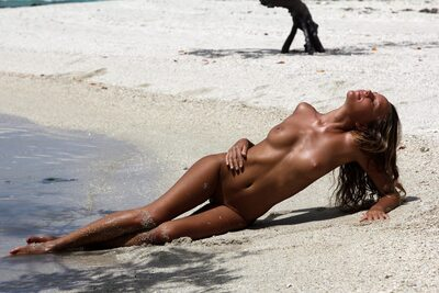 Picture tagged with: X-Art, Skinny, Blonde, Beach, Island Passion, Katya Clover - Mango A, Tanned