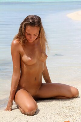 Picture tagged with: X-Art, Skinny, Blonde, Beach, Island Passion, Katya Clover - Mango A